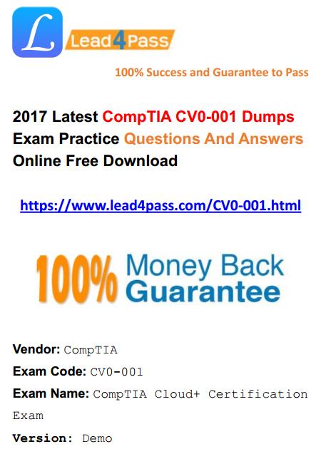 CV0-001 dumps